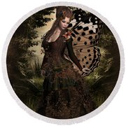 Butterfly Princess Of The Forest Round Beach Towel