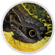 Butterfly Reflections Round Beach Towel