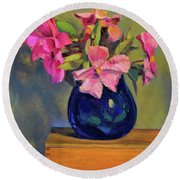Butterfly Roses Round Beach Towel