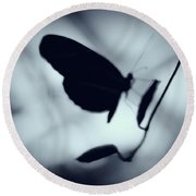 Butterfly Silhouette  Round Beach Towel