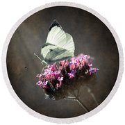 Butterfly Spirit #02 Round Beach Towel