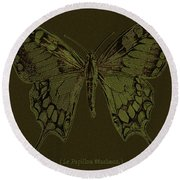 Butterfly Swallow Tail Round Beach Towel