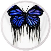 Butterfly Tears Round Beach Towel