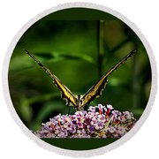 Butterfly Victory Round Beach Towel