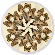Butterfly Wheel Dance Round Beach Towel