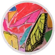 Butterfly Wing Round Beach Towel
