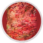 Butterfly Wing Nr1 Round Beach Towel