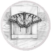 Butterfly With Matchbook Round Beach Towel