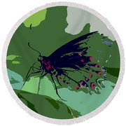 Butterfly Work Number Ten Round Beach Towel