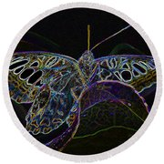 Butterfly Work Rws Number 6 Round Beach Towel