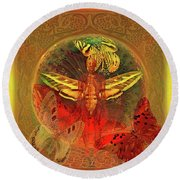 Butterflyman Solarlife Round Beach Towel by Joseph Mosley