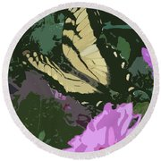 Butterfly's Delight Round Beach Towel