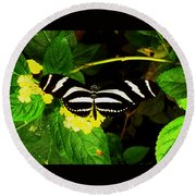 Butterly Round Beach Towel