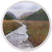 Buttermere In The Lake District Round Beach Towel