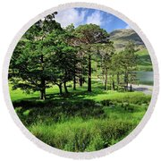 Buttermere Pines Round Beach Towel
