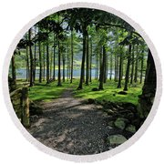 Buttermere Woods Round Beach Towel