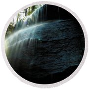 Buttermilk Falls Round Beach Towel