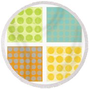 Buttons Round Beach Towel
