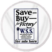 Buy For Victory Round Beach Towel