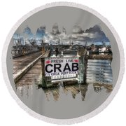 Buy From The Fisherman Round Beach Towel