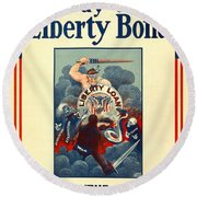 Buy Liberty Bonds Round Beach Towel