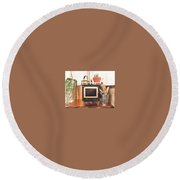 Buy Miniature Wood Cook Stoves Online Round Beach Towel