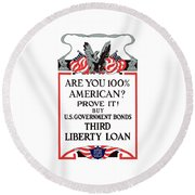 Buy U.s. Government Bonds Round Beach Towel