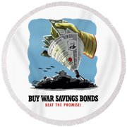 Buy War Savings Bonds Round Beach Towel