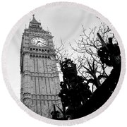 Bw Big Ben London 2 Round Beach Towel