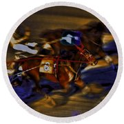 By A Nose 2 Round Beach Towel