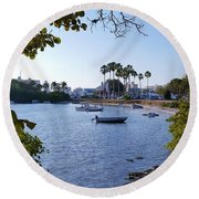 By Dingy Round Beach Towel