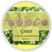 By Grace Round Beach Towel