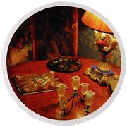 By Lamplight Round Beach Towel