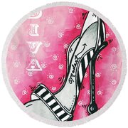 By Pink Design By Madart Round Beach Towel