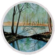 By River's Edge Round Beach Towel