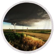 By Road, By Rail, Or By God Round Beach Towel