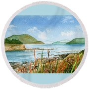 By The Bay  Round Beach Towel