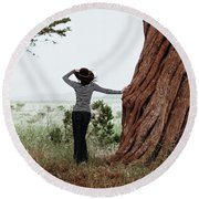 By The Cypress Round Beach Towel