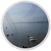 By The Lake 16 Round Beach Towel
