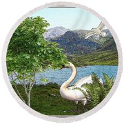 By The Lake 5 Round Beach Towel