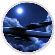 By The Light Of The Blue Moon Round Beach Towel
