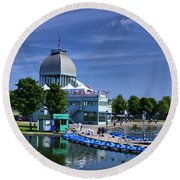 By The Port Montreal Round Beach Towel