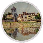 By The River At Vernon Round Beach Towel