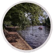 By The River Ouse Round Beach Towel