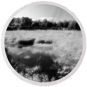 By The Road In Summer Two  Round Beach Towel