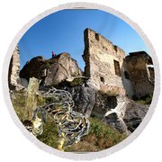 By The Ruins 2 Round Beach Towel