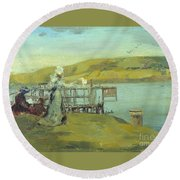 By The Sea Swanage Round Beach Towel