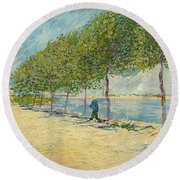 By The Seine Round Beach Towel