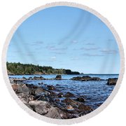 By The Shining Big Sea Water Round Beach Towel