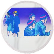 By The Time I Got To Woodstock Round Beach Towel